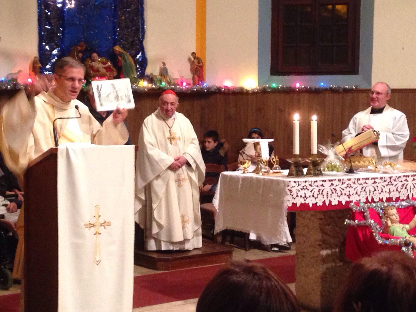 Tettamanzi celebra la messa di Natale 2015 al Corberi